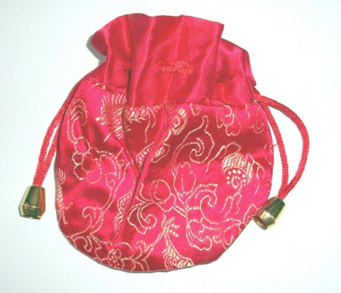 Red Dragon Drawstring Pouch