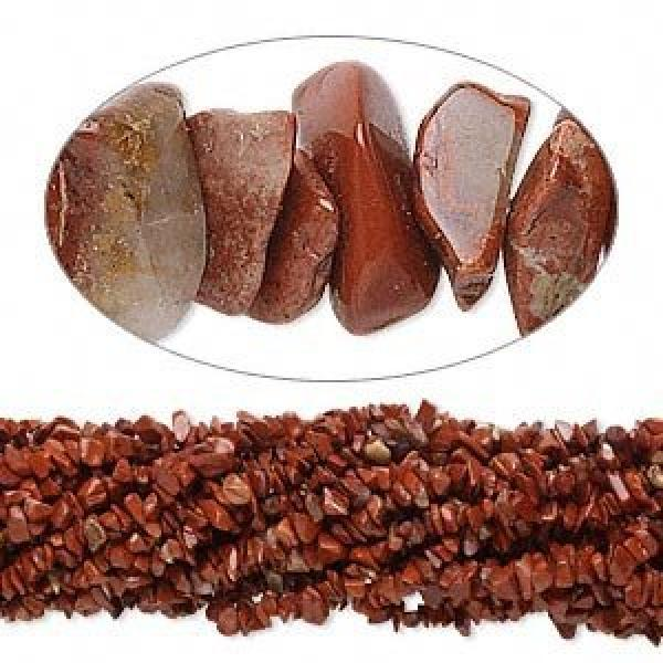 "Red Jasper 34"" Gemstone Chip Necklace"