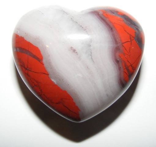 healer heart red the gemstone crystal jasper