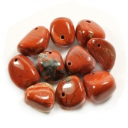 Red Jasper Tumblestone Pendant with Cord