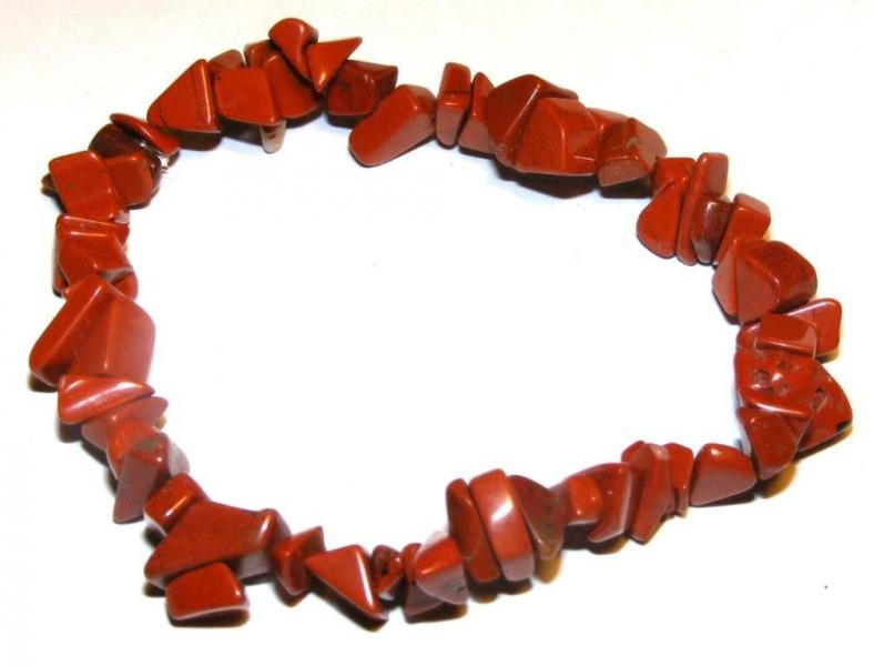Red Jasper Gemstone Chip Bracelet