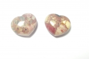 Rhodonite Gemstone Crystal Patterned Heart