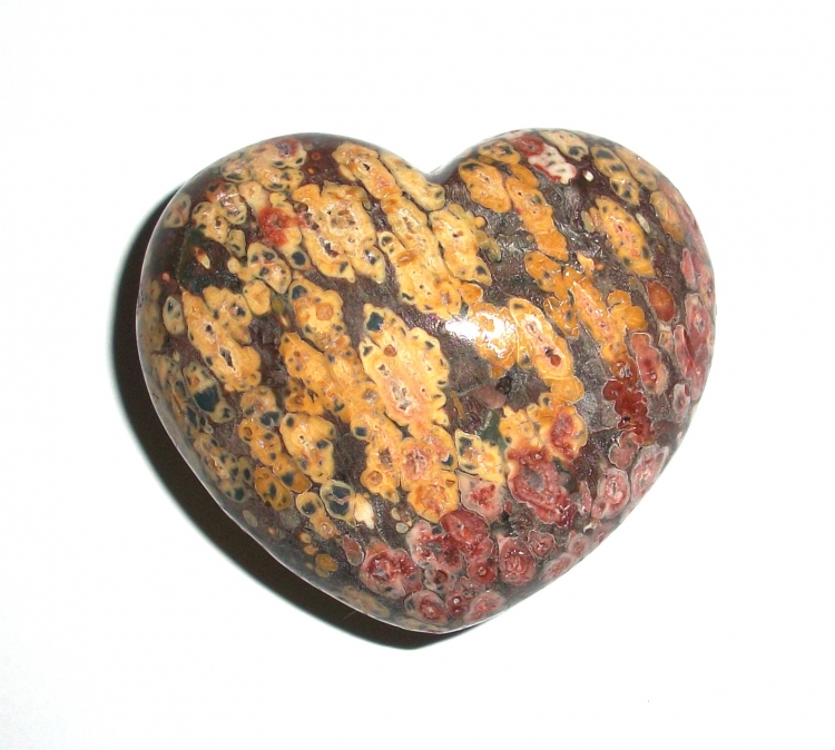 Rhyolite Gemstone Heart Carving - Large