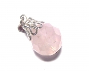Rose Quartz Gemstone Facetted Sphere Pendant