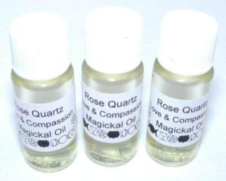 Rose Quartz Gemstone Magickal Oil - love and compassion