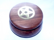 Pentagram / Pentacle Round Wooden Box