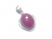 Ruby Sterling Silver Cabachon Pendant