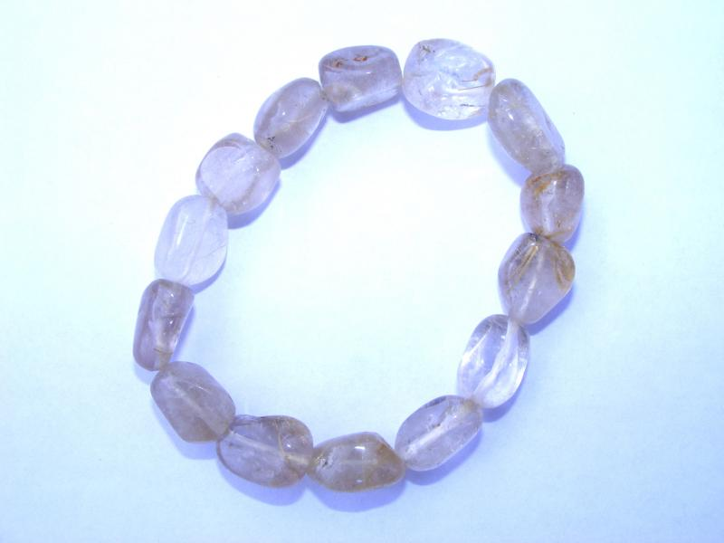 Rutilated / Angel Hair Quartz Tumblestone Bracelet