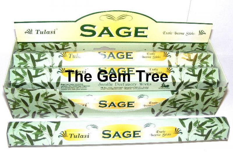 Sage Incense Sticks Full Box 120 Sticks - TULASI