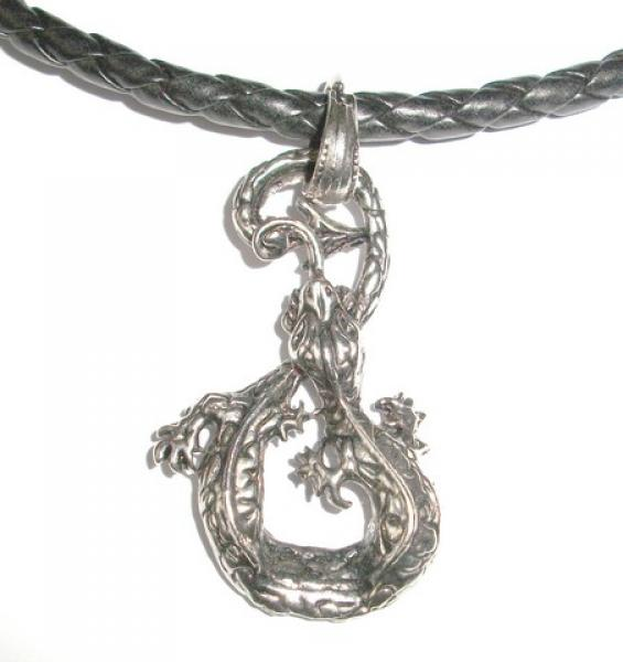 Metal Gecko Rope Necklace Pendant
