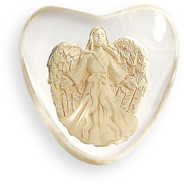 "Serenity Heart ""Hope"" Worry Stone Angel"