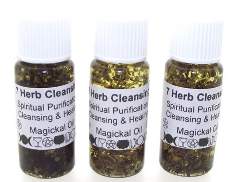 7 Herb Cleansing Herbal Ritual Oil