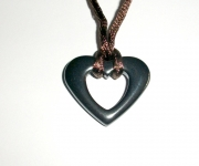 Abstract Carved Hematite Pendant 3