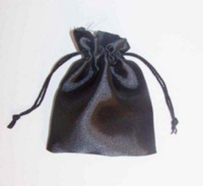 Black Satin Drawstring Pouch
