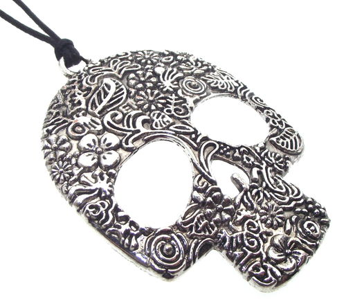 Day of the Dead Sugar Candy Skull Pendant