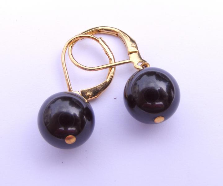 Southsea Black Pearl Earrings - Leverback
