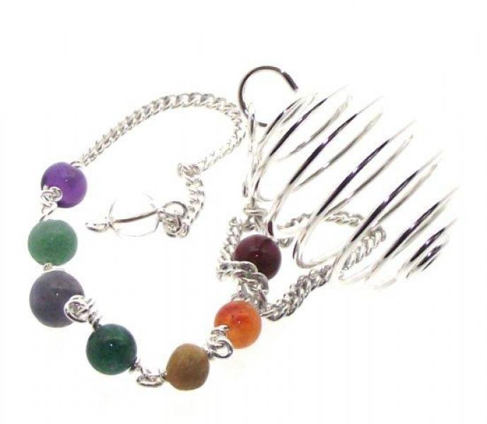 Silver Spiral Cage Pendulum Dowser on Chakra Chain