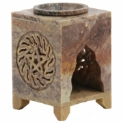 Soapstone Oil Burner - Sun / Pentagram