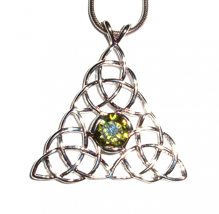 Topaz Triquetra Inspired Pendant with Chain