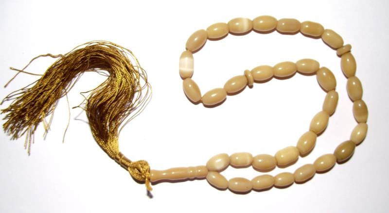 Tan Cats Eye Prayer Beads
