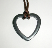 Abstract Carved Hematite Pendant 2