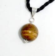 Tiger Eye 16mm Sphere Pendant