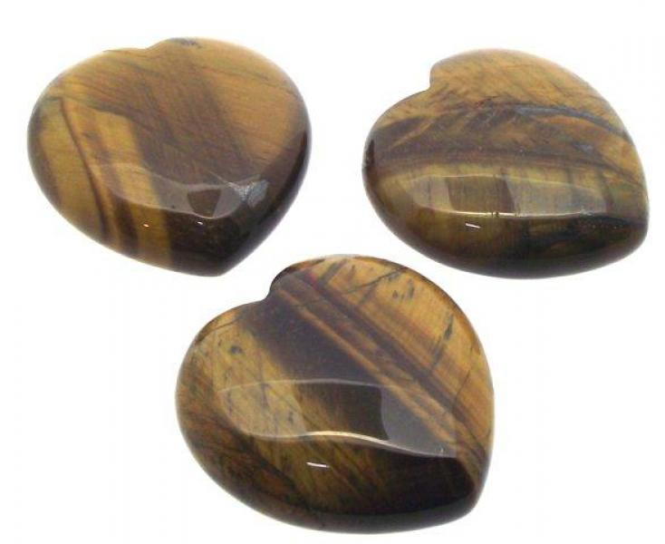Tiger Eye Polished Gemstone Crystal Heart