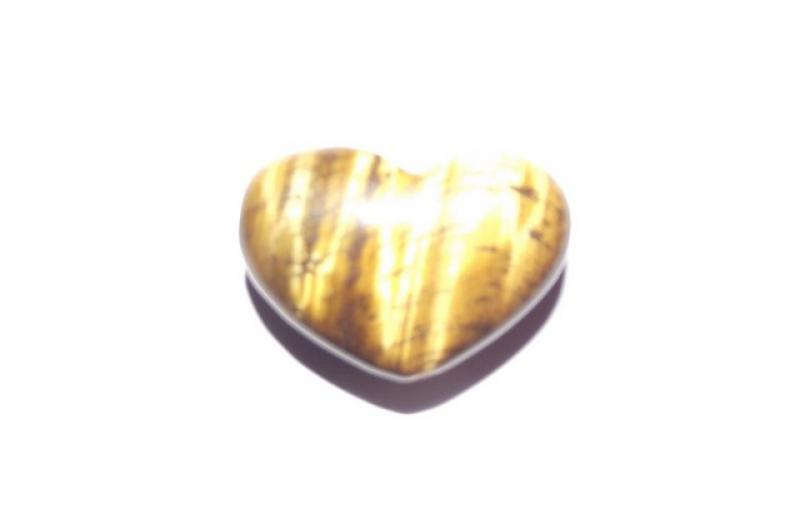 Tiger Eye Polished Gemstone Crystal Heart - Type 2