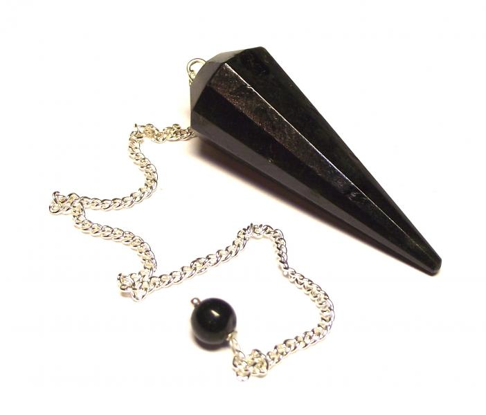 Facetted Black Tourmaline Dowser Pendulum
