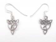 Triquetra Styled Sterling Silver Ear Studs / Earrings