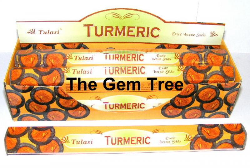 Turmeric Incense Sticks Full Box 120 Sticks - TULASI