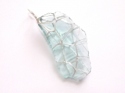 Turquoise Andara Wire Wrapped Pendant