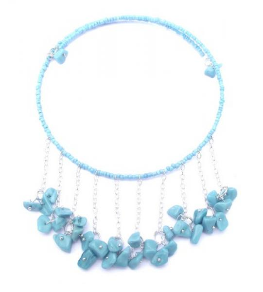 Turquenite Gemstone Choker Design Necklace