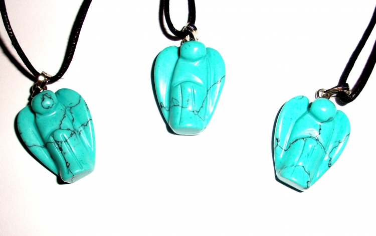 Turquenite Carved Gemstone Pendant