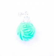 Turquoise Carved Gemstone Sphere Pendant