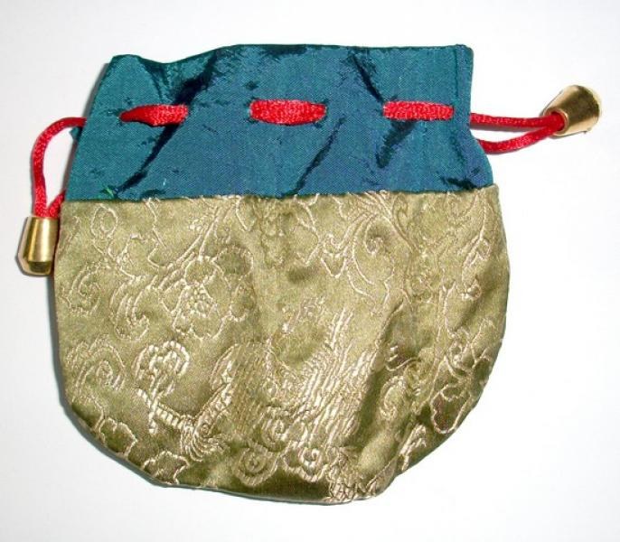 Blue and Green Dragon Pouch