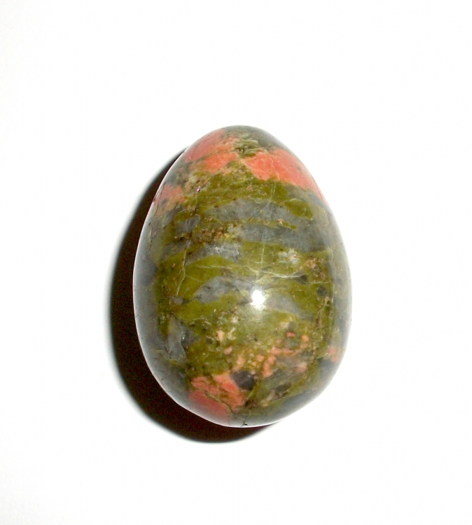 Unakite Gemstone Crystal Egg