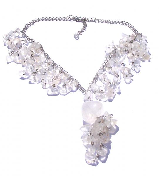Quartz Waterfall Cascade Gemstone / Crystal Necklace