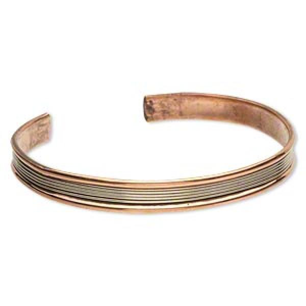 Copper And Brass Wire Cuff Bracelet