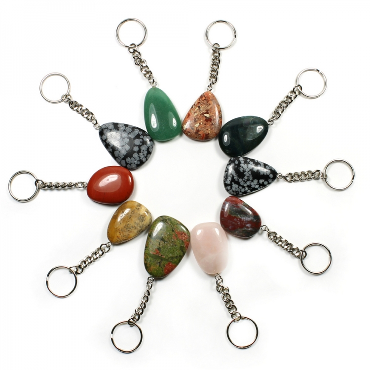 Worry Stone Keyring - Various gemstones types available