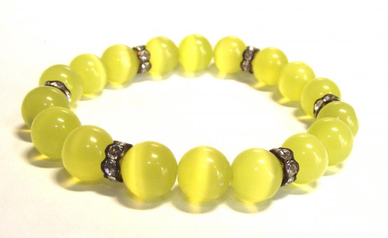 Yellow Cats Eye Power Bracelet